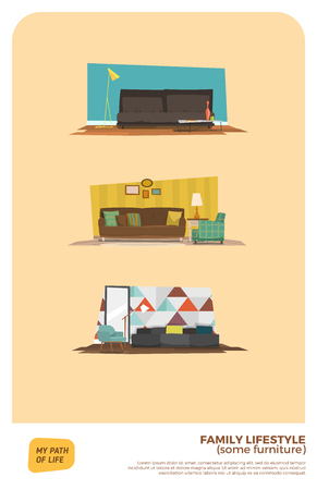 some: Some furniture set. Three variations.