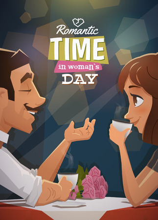 Romantic time in woman day. EPS 10