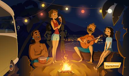 湾の夜のパーティー。