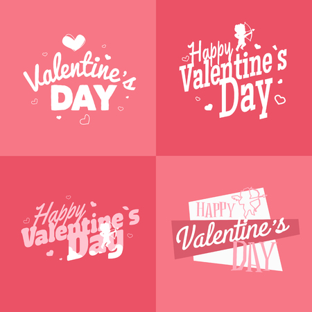hearts background: Happy Valentines day vector illustration. EPS 10 Illustration