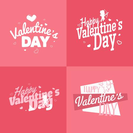 fond de texte: Valentines heureux vecteur illustration jour. EPS 10 Illustration