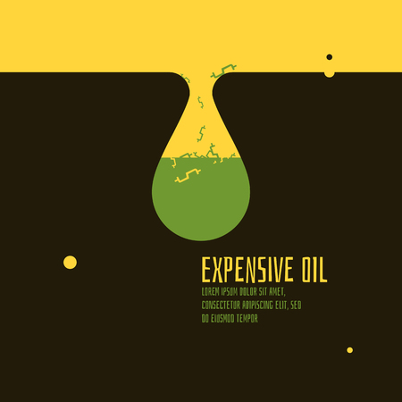 is expensive: Expensive oil vector illustration. Abstract. Illustration