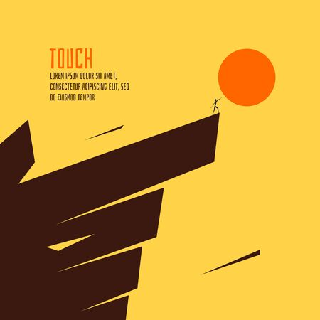 an achievement: Touch the sun vector illustration.