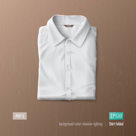Realistic shirt vector illustration. Mock-up element.