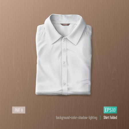 folded: Realistic shirt vector illustration. Mock-up element. Illustration