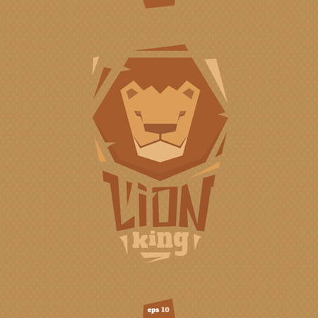 head wise: Lion king head illustration. Abstract form. Illustration