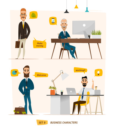 Business characters scene. Teamwork in modern business office Reklamní fotografie - 55164406