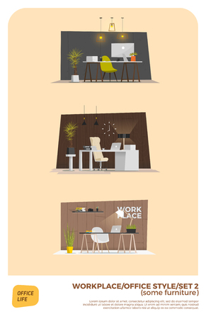 wood chair: Some modern office style. Interior design. EPS 10 Illustration