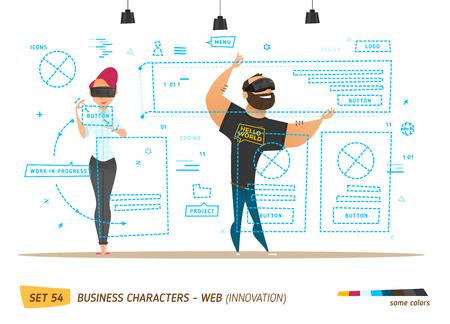 イノベーション ビジネス スタイルです。Web サイトを作成します。革新スタイル