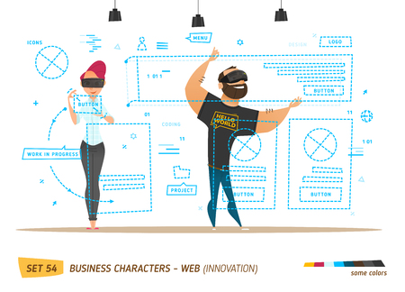 technological: Innovation business style. Creating web site. Innovation style