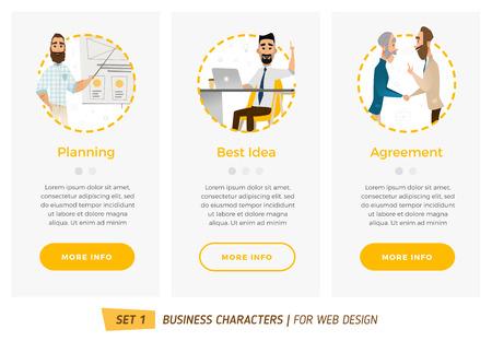 Business-Zeichen gesetzt. Banner für Ihre Web-Design in Business-Stil Standard-Bild - 58511985