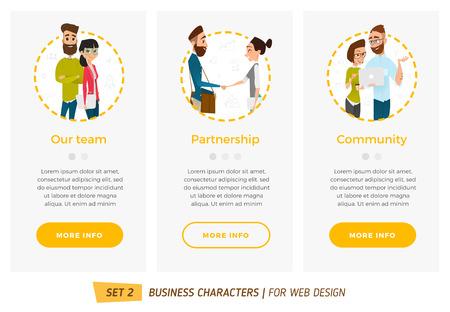 ビジネス文字を設定します。ビジネス スタイルのウェブ デザインのバナー  イラスト・ベクター素材