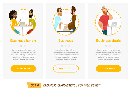 Business characters set. Banners for your web design in business style Фото со стока - 60708493