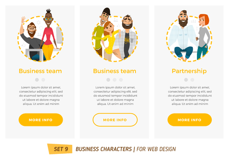 Business characters set. Banners for your web design in business style