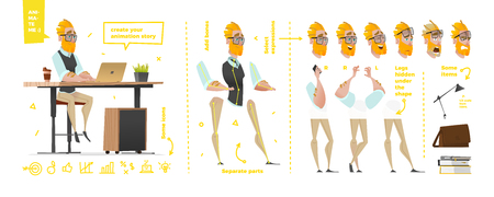 Stylized characters set for animation.