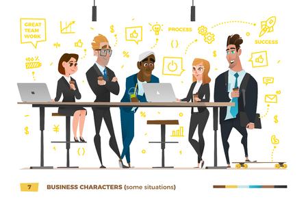 作業環境でのビジネス文字。