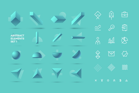 Abstract Realistic 3D Objects and Icons for Your Creative Design