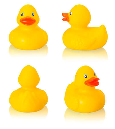 Toy rubber duck isolated on white  background photo