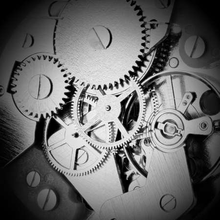 Clockwork with gears and cogwheels photo