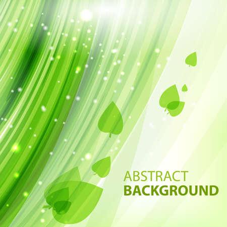 緑の抽象的なベクトルの背景。ラウンドのエコ ・ デザイン。ビジネス プレゼンテーションのための抽象的な背景。ベクトル。  イラスト・ベクター素材