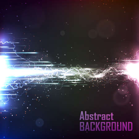 energy flow: Cosmic background. The energy flow with lightning. Abstract background for business presentations. Vector. Illustration