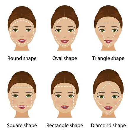 Frau Mit Quadratischen Form Gesicht Art Des Gesichts Für Make Up