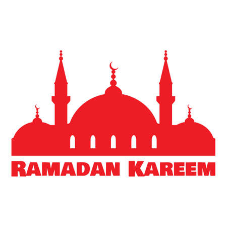 Ramadan Kareem greeting card with Islamic mosque. Illustration for muslim holy month Ramadan. Vector