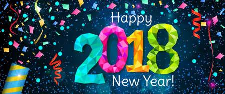 New Year 2018 banner Illustration