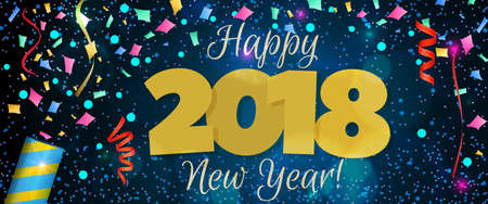 New Year 2018 banner Stock Illustratie