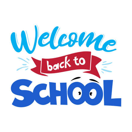 Back to school greeting, First day of school sale. Vector