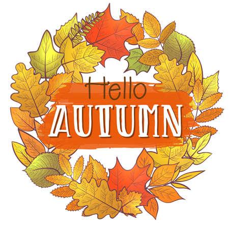Hello autumn background Illustration