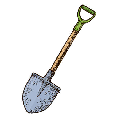 Garden shovel sketch