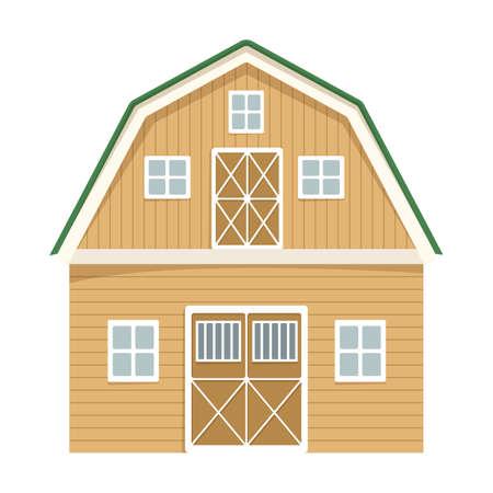 Wooden farming barn