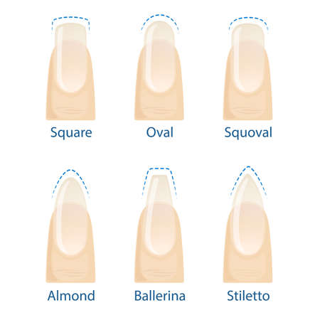 Set of nails shapes 일러스트