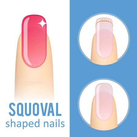 Nail shape squoval