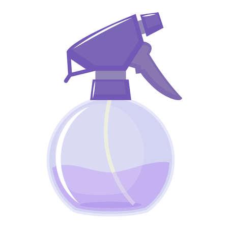 Water sprayer bottle on white background, cartoon illustration. Vector