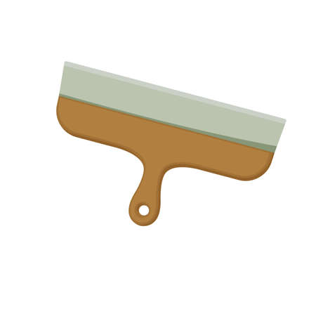 Putty knife on white background, cartoon illustration of repair tool. Vector