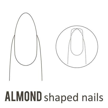 Manicure per unghie, come fare la forma delle unghie alle mandorle. Archivio Fotografico - 89001686