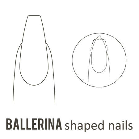 Nail manicure and how to make ballerina nail shape.