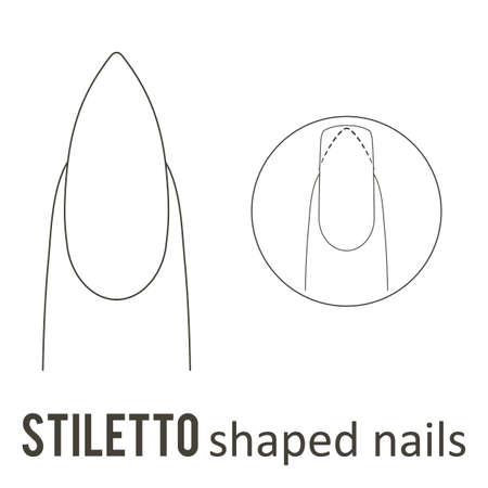 Manicure del chiodo. Come fare la forma del chiodo stiletto. Archivio Fotografico - 89001693
