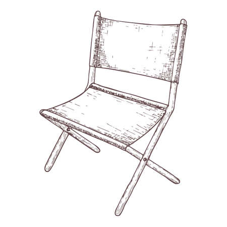 Folding chair icon