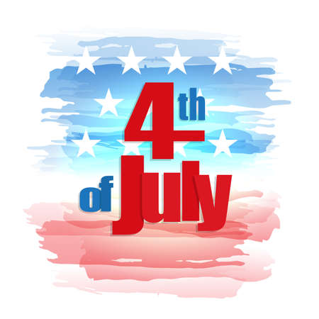 Happy 4th of July. Independence Day greeting card.
