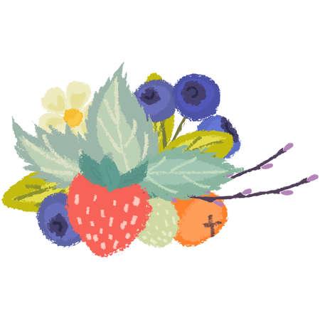 Wild berries composition