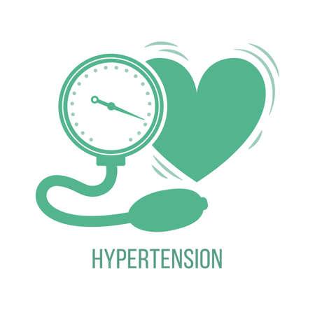Icon of common symptom of panic disorder - hypertension. Vector Vector Illustratie