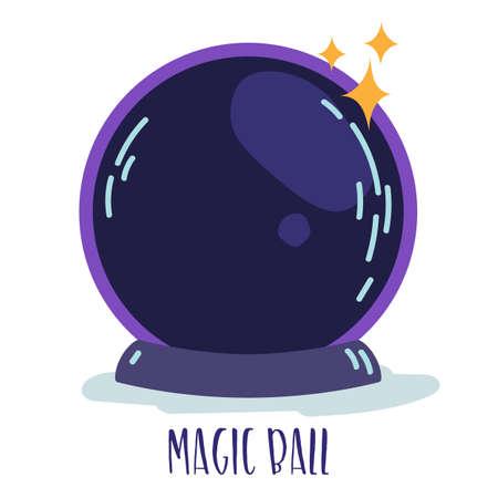 Elemento de brujería mágica - Bola mágica con destellos. Vector Ilustración de vector