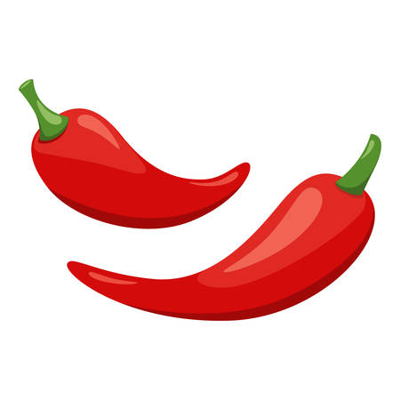 Mexican traditional food - hot chili peppers. Vector