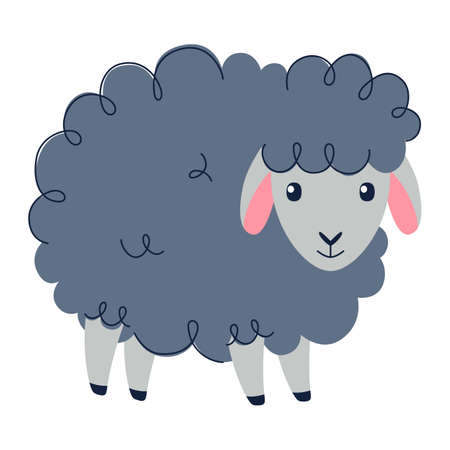 Cute sheep, Sweet dreams, Counting sheeps - Baby nursery collection. Vector Ilustração