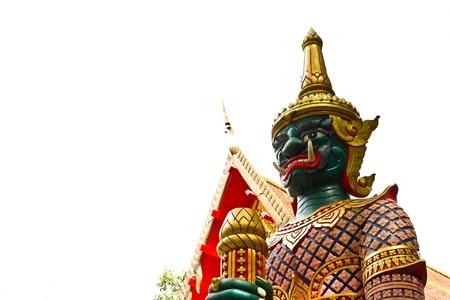 thai believe: Antique Thai green face giant, Hat-Yai Thailand