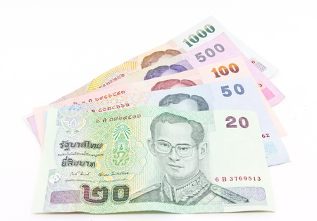 baht: Thai currency banknote