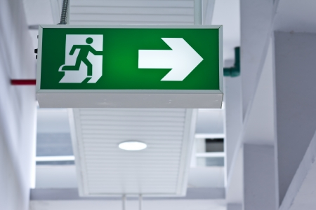 fire exit sign: Fire exit